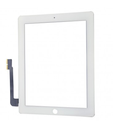 Apple iPad 3 / 4 - Dotyková plocha se sklem, Bílá
