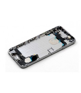 Apple iPhone 6 - kompletně osazený zadní / střední hliníkový rám, černý